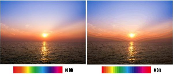 10 bit color gradient