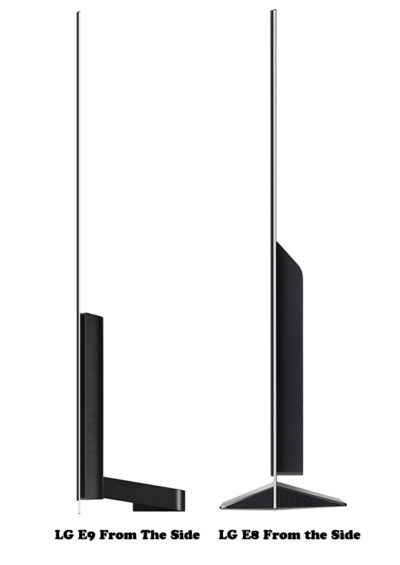 LG OLED E9 vs OLED E8 From The Side